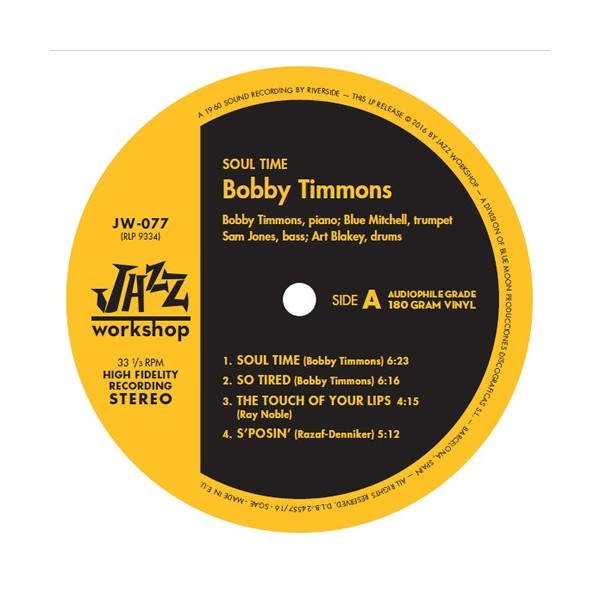 Timmons, Bobby - Soul Time (LP)