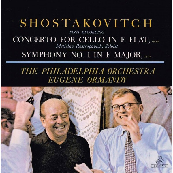 Rostropovich & Ormandy - Shostakovich: Cello Concerto & Symphony No. 1 (LP)