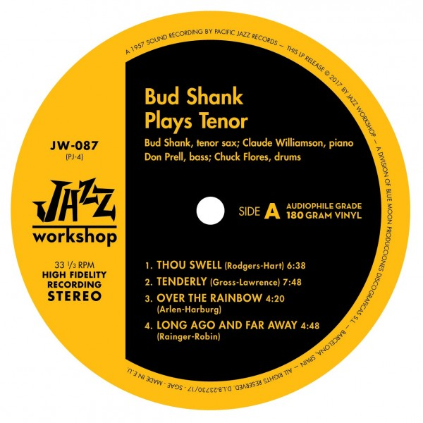 Shank, Bud - Plays Tenor (LP)