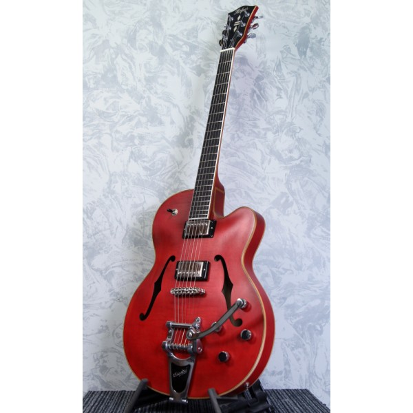 Hofner Gold Label Thin President Guitar - Vintage Red