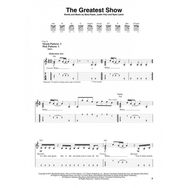 The Greatest Showman (Easy Guitar)
