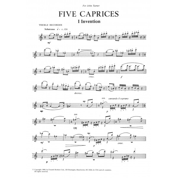 Five Caprices - Hand, Colin