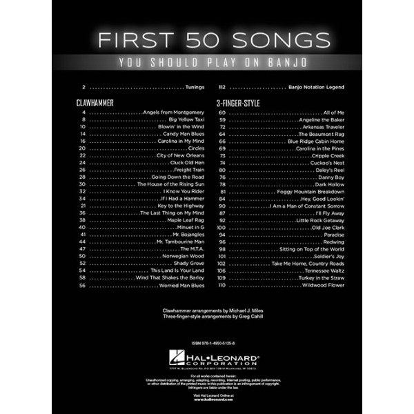First 50 Songs You Should Play on Banjo