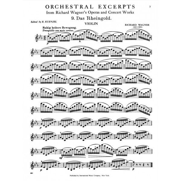 Wagner - Orchestral Excerpts, Vol. 2 (violin)