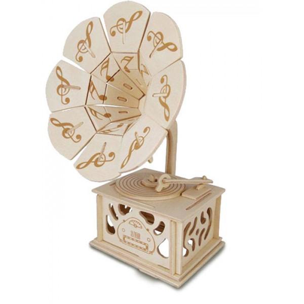 Woodcraft Construction Kit - Gramophone