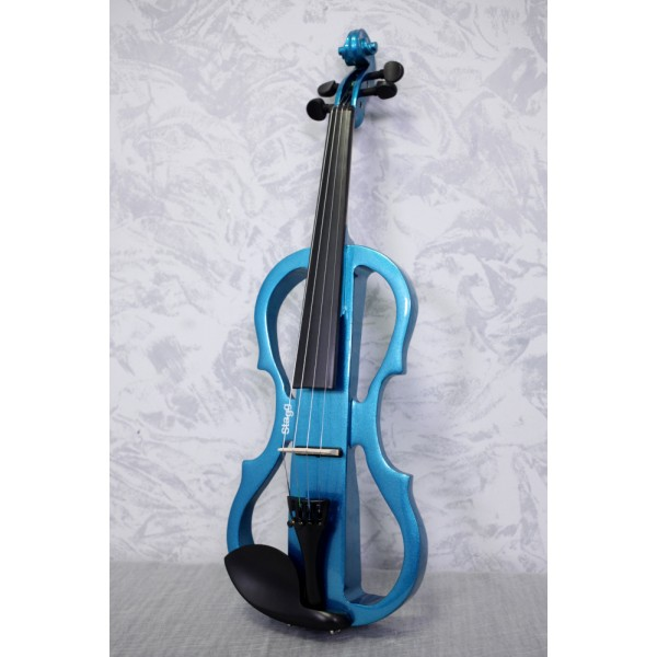 Stagg EVN X Metallic Blue Electric Violin Outfit