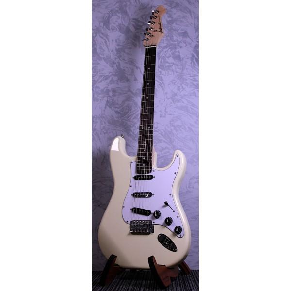 Aria STG0003 Strat Style Electric Guitar White