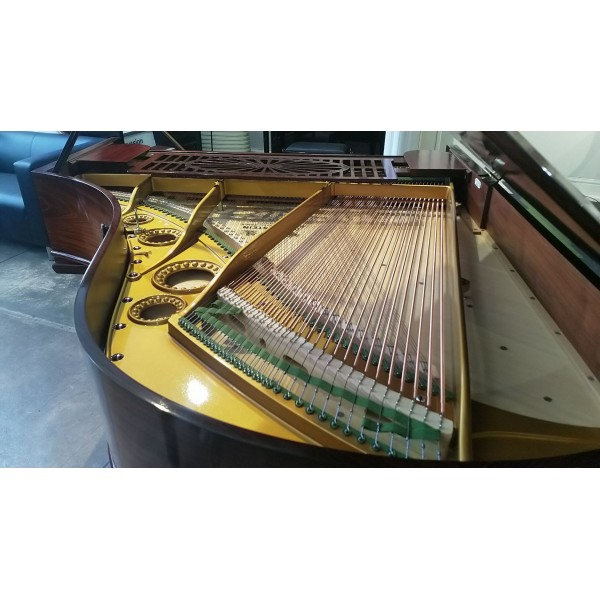 Bechstein Model A in Rosewood French Polish - full restored at Forsyth - interior