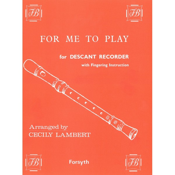 For Me To Play - Lambert, Cecily
