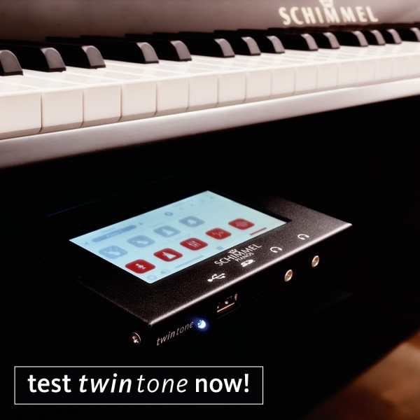 Fridolin F116TT TwinTone™ 'Silent' Upright Piano Black Polyester