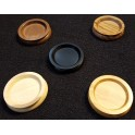 90mm castor cups (wood)