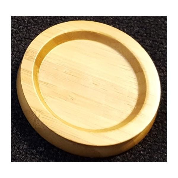90mm castor cups (wood)