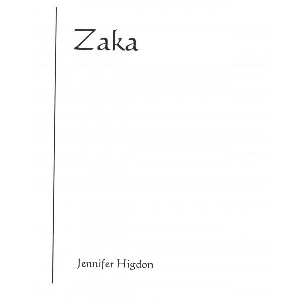 Higdon, Jennifer - Zaka (score)