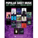 Popular Sheet Music - 30 Hits From 2015-2017 - Easy Piano