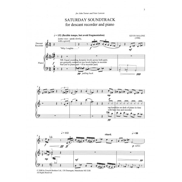 Saturday Soundtrack - Malone, Kevin