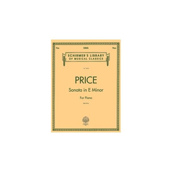 Florence B. Price: Sonata In E Minor - Price, Florence (Composer)