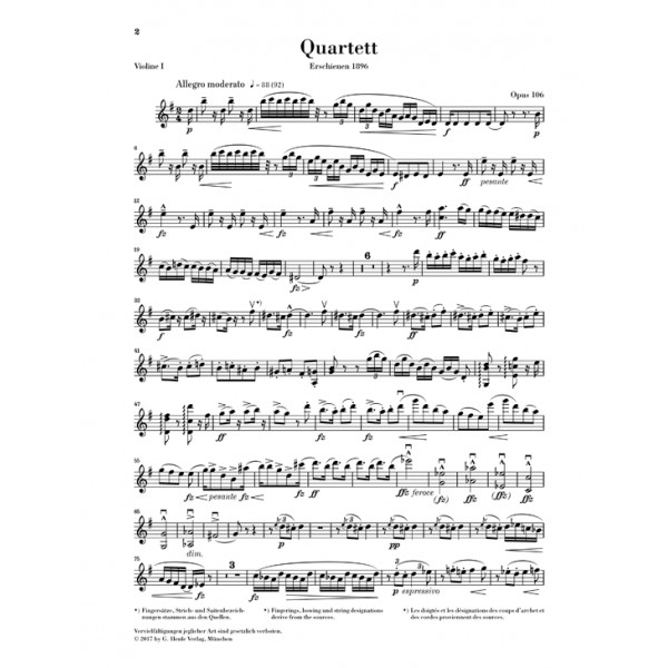 Dvořák, Antonín - String Quartet in G