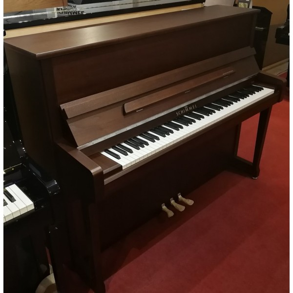 Schimmel C116T in Dark Walnut Satin with Chrome fittings Upright Piano