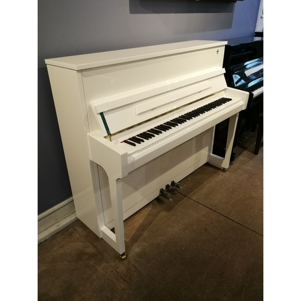 Fridolin F121T Upright Piano in White Polyester