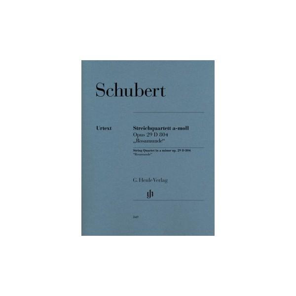 """Schubert, Franz - String Quartet a minor op. 29 D 804 """"Rosamunde"""""""