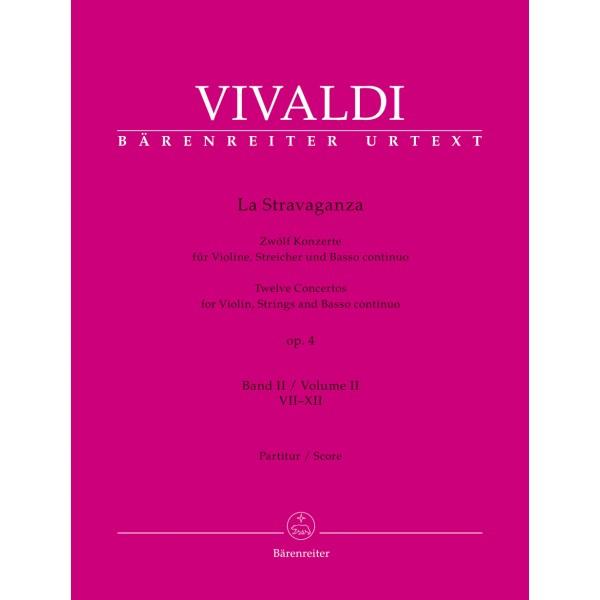 Vivaldi, Antonio - La Stravaganza Op.4 Volume 2 (Nos 7-12) (Full Score)