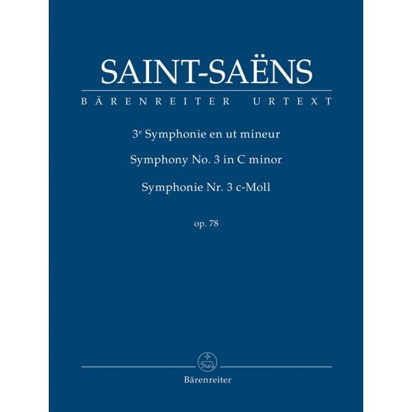 Saint-Saëns, Camille - Saint-Saens Symphony No.3 in C minor Op.78 (Organ) (Study Score)