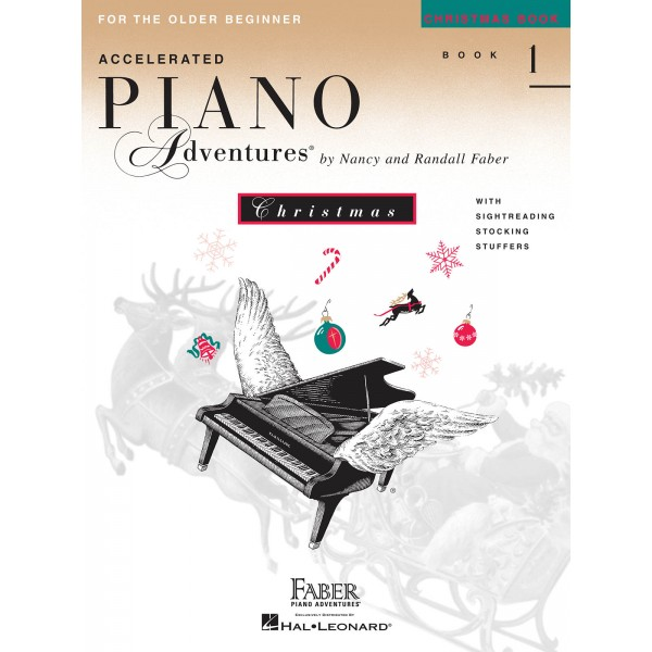 Accelerated Piano Adventures for the Older Beginner - Christmas Book 1