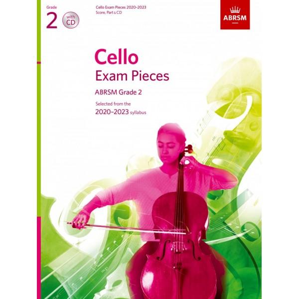 Cello Exam Pieces 2020-2023, ABRSM Grade 2, Score, Part & CD - Selected from the 2020-2023 syllabus