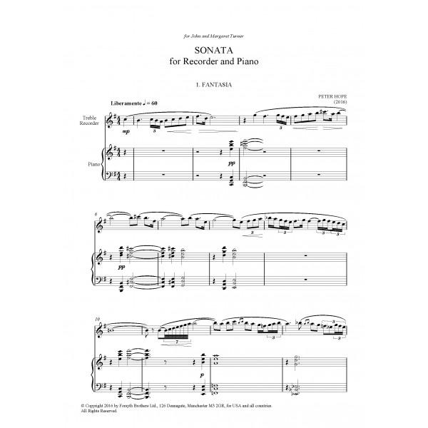 Recorder Sonata - Peter Hope