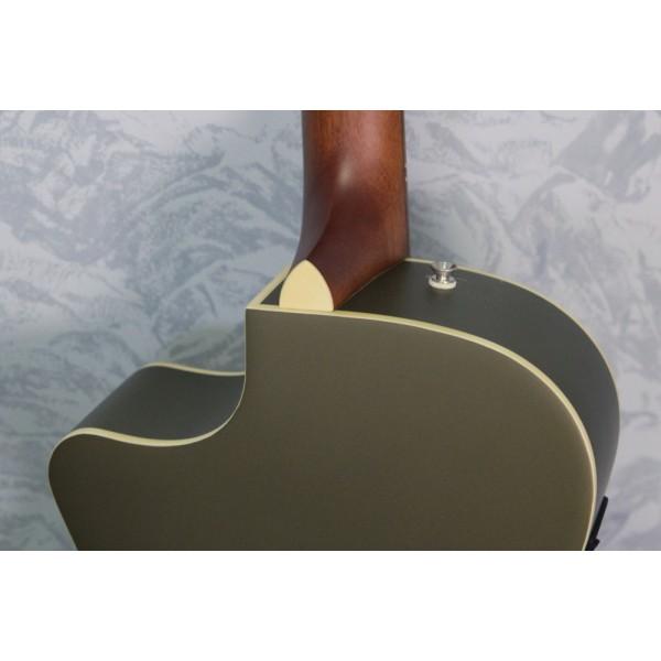 Fender Newporter Player Olive Acoustic Guitar