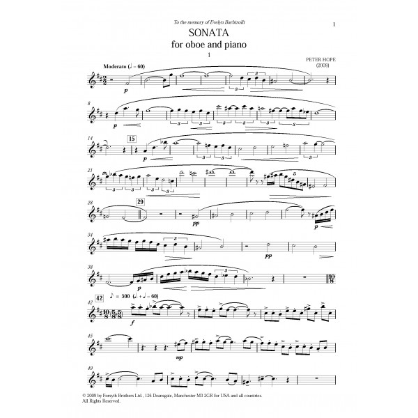 Sonata for Oboe and Piano - Peter Hope