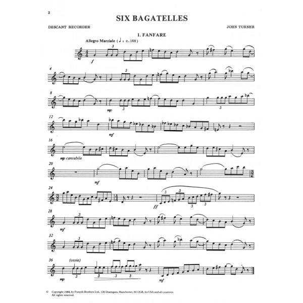 Six Bagatelles - Turner, John