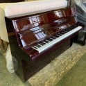 SOLD: Hyundai Upright Piano in Red Mahogany Polyester (Pre-owned)