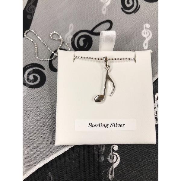 Sterling Silver Quaver Pendant