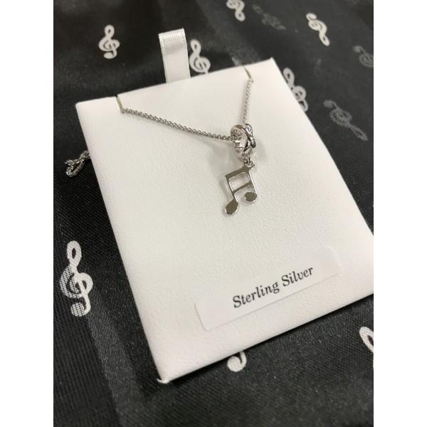 Sterling Silver Small Semiquaver Pendant