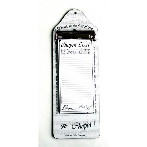 Chopin Liszt Note Board