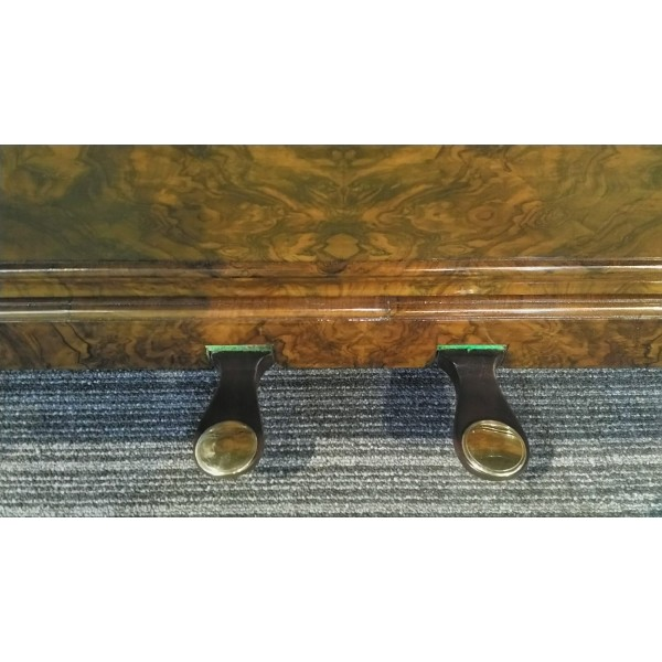 Antique Kirkman upright piano pedals