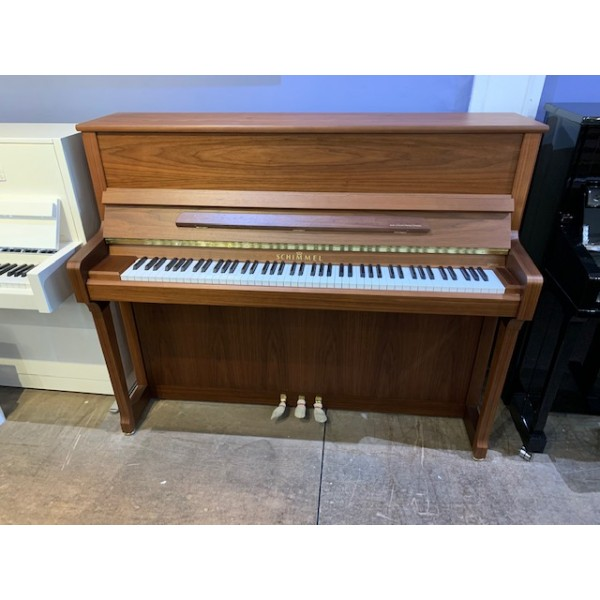 Schimmel C120T Upright Piano in Light Walnut Satin