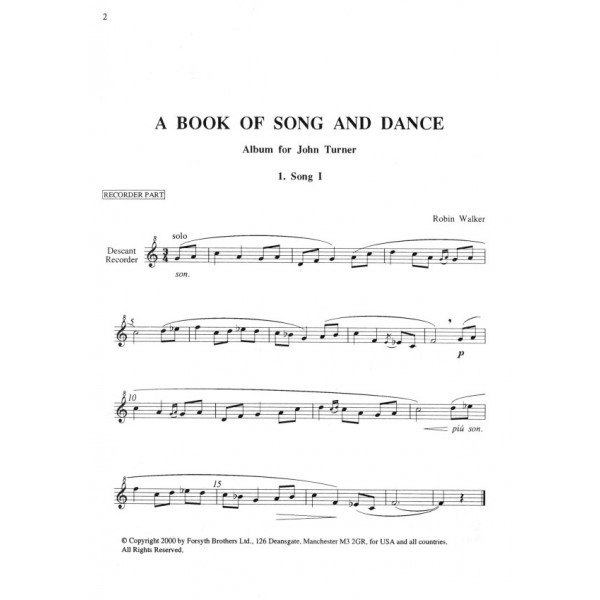 Book of Song and Dance - Walker, Robin