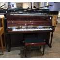 Pre-owned Schimmel 112 Empire Upright Piano in Flame Mahogany Polyester