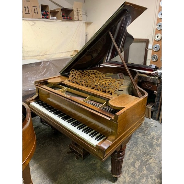 Steinway Model A pre-restoration at Forsyth music shop