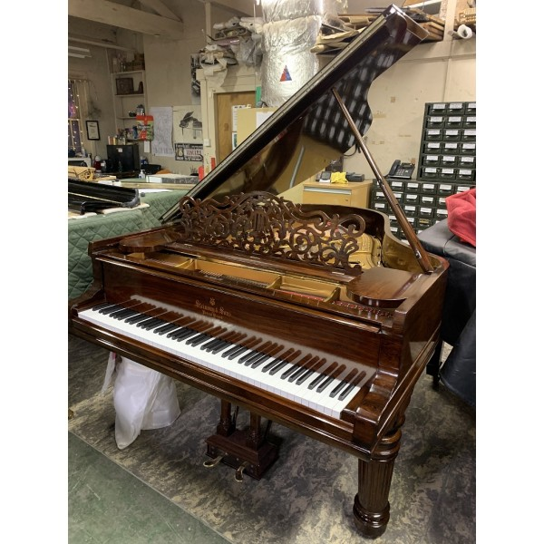 Steinway Model A in hand French polished rosewood - elephant leg casing