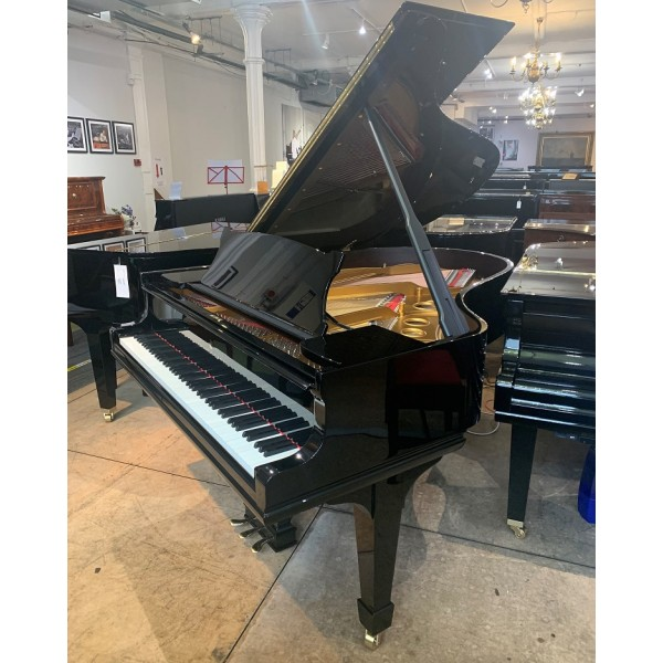 Rebuild in progress - Steinway Model O Grand Piano in Black Polyester