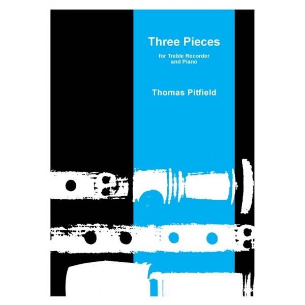 Three Pieces for Treble Recorder - Pitfield, Thomas
