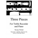 Three Pieces for Treble Recorder - Pitfield, Thomas
