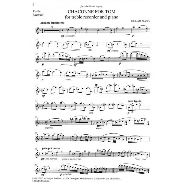 Chaconne for Tom - Alwyn, William