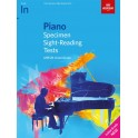 ABRSM Piano Specimen Sight-Reading Tests, Initial Grade
