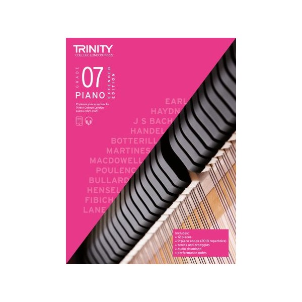 Trinity Piano Exam Pieces Plus Exercises 2021-2023, Grade 7 (Seven), Extended Edition