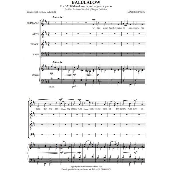 Higginson, Ian - Balulalow (SATB & Keyboard)