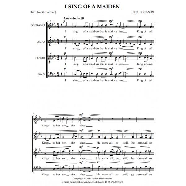 Higginson, Ian - I Sing of a Maiden (SATB a cappella)